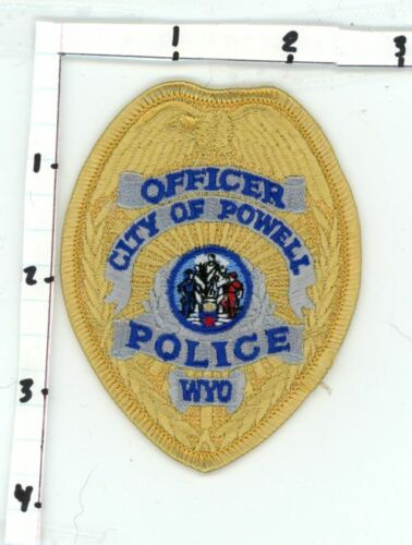 WYOMING WY POWELL POLICE OFFICER NEW PATCH SHERIFF