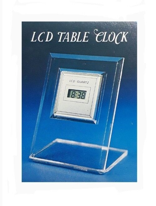 Solid State Digital Quartz LCD Table Clock | 5 Function | Made in China (New!)