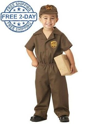 UPS Driver Guy Boy's Toddler Kids Halloween Costume