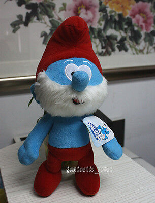 "B/NEW The Smurfs Character Soft Plush Toy 13"" Papa Smurf Stuffed Teddy Doll"