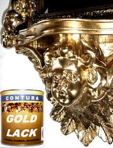 Goldlack Bilderrahmen+ Möbel Goldfarbe 6,20€100ml Gold Lack Effektlack Blattgold