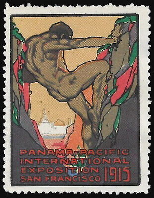 1915 Panama-Pacific Exposition - Hercules Allegory label