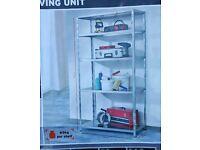 Metal shelving unit