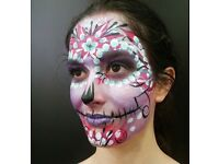 London face painter available for facepainting at kids parties, events and festivals