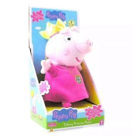 Peppa Pig Talking Princess Peppa Soft Toy Press My Tummy To Make Me Talk NEW