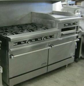 Thermatek Natural Gas Oven - combo - 2 ovens - 6 burners - flat top grill with broiler