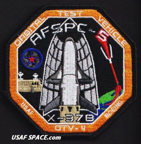 AFSPC-5 - OTV-4 - X-37B ORBITAL TEST VEHICLE - VAFB 30SW USAF DOD Launch PATCH