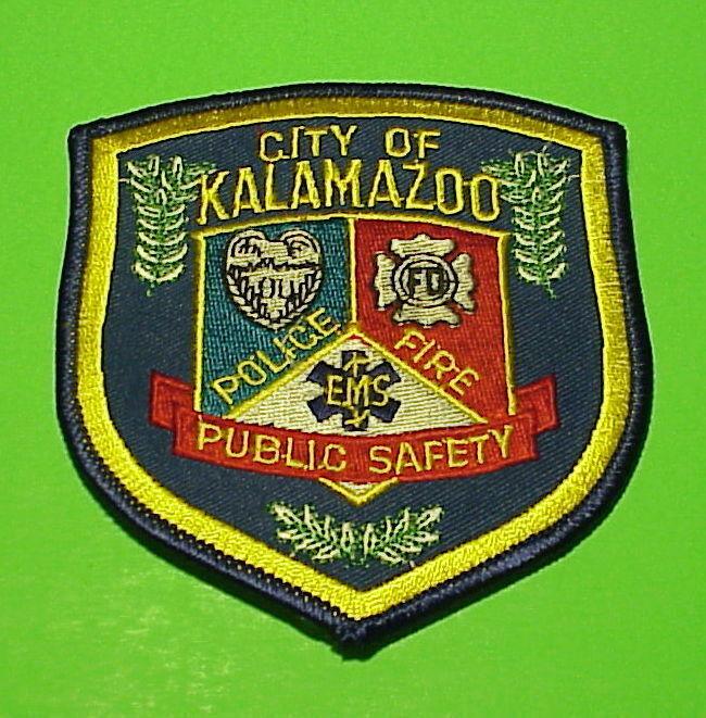 KALAMAZOO  MICHIGAN  M I  FIRE / EMS /  POLICE DEPT. PATCH  FREE SHIPPING!!!