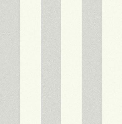 Tapete, Designtapete, Packpapier, Blockstreifen, Schimmer, Eierschale, Silber
