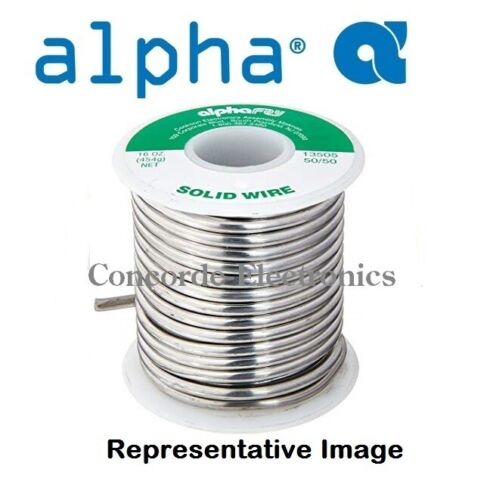 Alpha Solid Wire Solder / Med High Temp / Sn40Pb60 / .062  / REG $80 / CLEARANCE