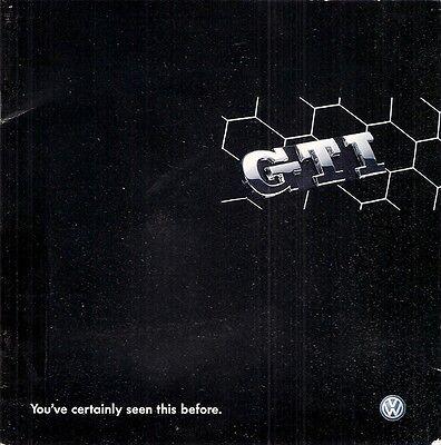 Volkswagen Golf GTi Mk5 2005 UK Market Mailer Sales Brochure & CD-ROM