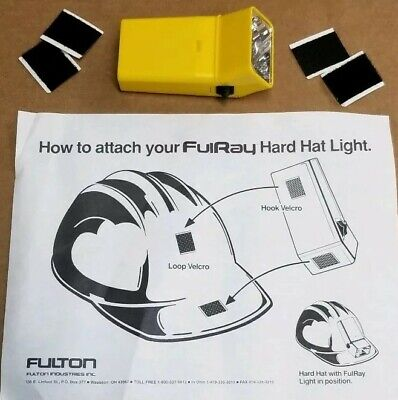 Vintage Fulton Fulray Hard Hat Light Helmet Flashlight