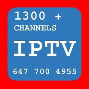 IPTV SERVICE # 1 IN KIJIJI, LIVE CHANNELS 1300 + NO FREEZING