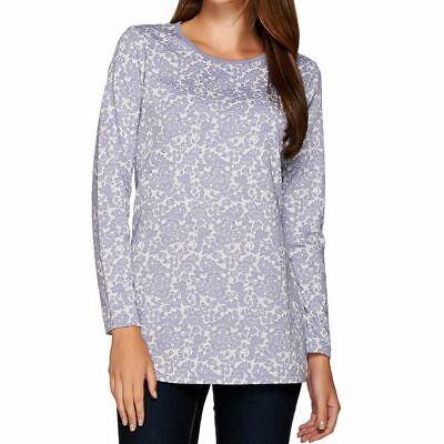 Liz Claiborne New York Size 3X Stone Blue Jacquard Knit Tuni