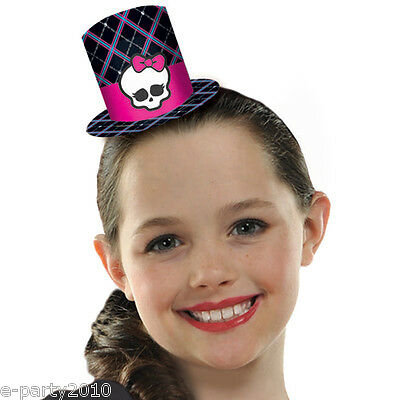 MONSTER HIGH MINI TOP HATS (8) ~ Birthday Party Supplies Favors Halloween Skull](Monster High Halloween Party Supplies)