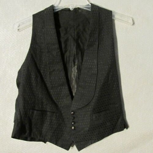 V7089 Vintage 1920's Small Black Metal Button Up F