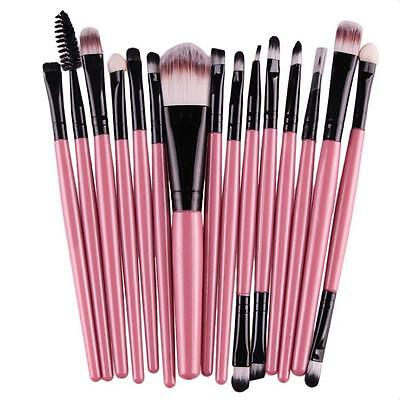 15 pcs/Sets Eye Shadow Synthetic Hair Eyebrow Lip Brush Soft Makeup Brushes Tool