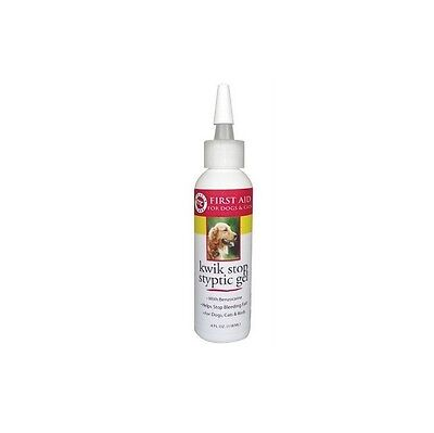 Kwik Stop Styptic Gel for Dog & Pet - 4 oz - Stop bleeding fast - clipping nails