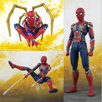 Avengers Infinity War Iron Armor Spider-Man SHF Action Figure Toy SH Figuarts