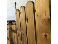 treated fence boards posts rails