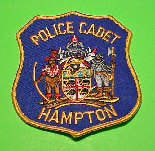 "HAMPTON VIRGINIA VA  POLICE CADET  4 1/2""  POLICE PATCH  FREE SHIPPING!!!"