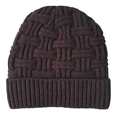 36223ef63a9 NWT Unisex Warm Knit Beanie Skull Cap Hat Coffee Brown One Size FREE  SHIPPING