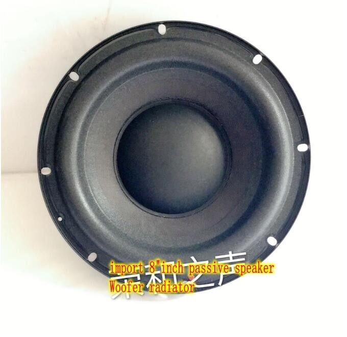 "2ps Import 8""inch passive speaker Bass radiator Auxiliary woofer Home Audio Part"