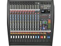 Citronic 12 Channel 1200 Watt Powered Mixer for Bands Disco Karaoke dj singer