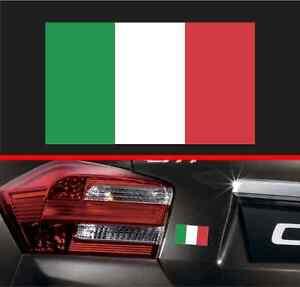 Italian Flag Sticker Vinyl Decal Italy Decal Honda Fiat BMW Audi