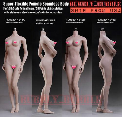 TBLeague PHICEN 1/6 Seamless Female Body M Bust PALE S18A SUNTAN S19B ☆USA☆