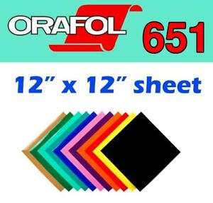 "ORACAL 651 VINYL 12""X 12 "", 12"" x 3Feet $2.85, 12""x15Feet $12.34"