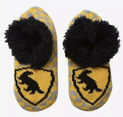 Harry Potter Hufflepuff Cozy Fluffy Slipper Socks Anti Slip Soles - Hufflepuff Socks