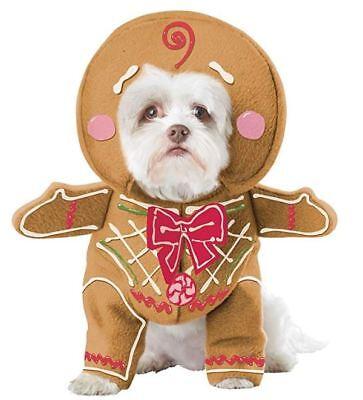 Dog Costume For Men (Gingerbread Man Costume for Dog Pup Pet Christmas Choose Size)