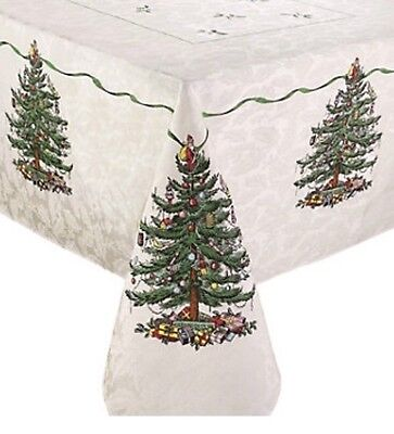 "Spode Christmas Tree 62"" X 104"" Tablecloth"