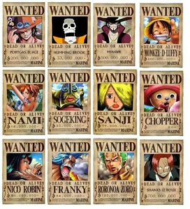 One Piece Serie 12 Poster Wanted Shanks Chopper Big 4 | eBay