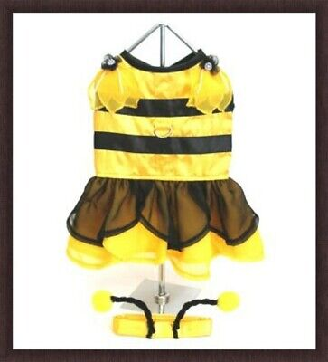 NWT DESIGNER FAIRY PRINCESS BUMBLE BEE DOG PET COSTUME HARNESS DRESS  L (Bumble Bee Costumes For Dogs)