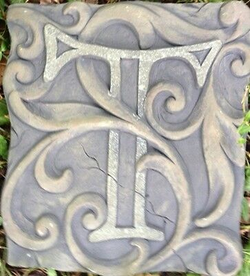 T Stone, plaque, stepping stone,  plastic mold, concrete mold, cement, plaster