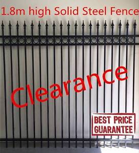 1800mm best quality solid steel fece panel rings and spears Dry Creek Salisbury Area Preview