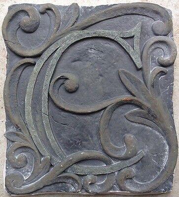 C Stone, plaque, stepping stone,  plastic mold, concrete mold, cement, plaster