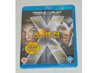 DVD FILM MOVIE BLURAY X-MEN FIRST CLASS BLU RAY COMBO LOOK PS 3&4 TRIPLE PLAY*