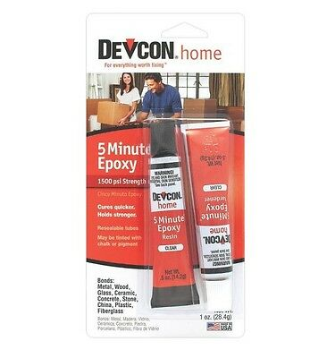Devcon 20545 Clear 5 Minute Epoxy High Strength .5 oz Waterp