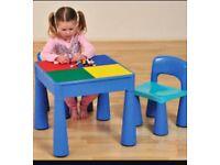 Next blue Lego table