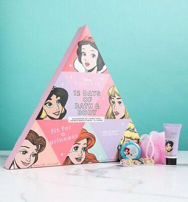Official Disney Princess 12 Days Of Christmas Bath and Body Advent Calendar