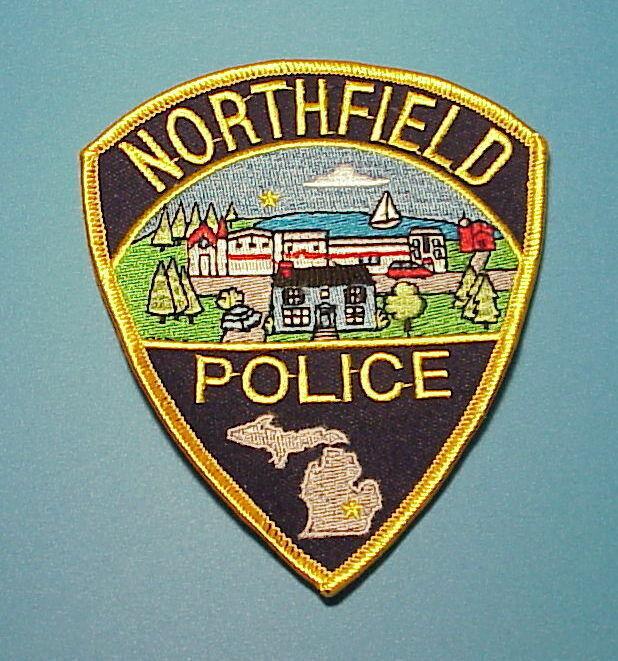 NORTHFIELD  MICHIGAN  MI  POLICE DEPT. PATCH  FREE SHIPPING!!!