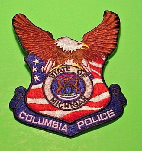 "COLUMBIA  MICHIGAN  MI   5 1/4""  POLICE PATCH  FREE SHIPPING!!!"