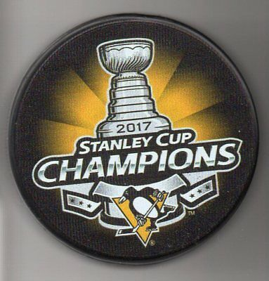 Pittsburgh Penguins 2017 Nhl Stanley Cup Champions Hockey Puck   Free Cube