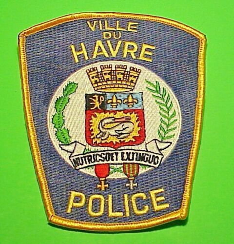 """VILLE DU HAVRE  MONTANA  MT  POLICE PATCH  5 1/8""""  FREE SHIPPING!"""