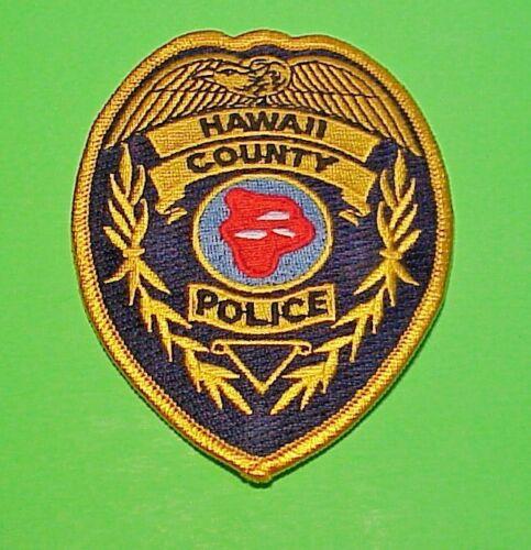 """HAWAII COUNTY  HAWAII  4 1/2""""  POLICE PATCH  TYPE #1"""