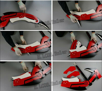 Transmutable Exclusive Made Rwby Ruby Crescent Rose Cosplay Prop 1 1 Portable