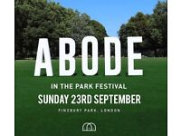 X1 ticket for sale for Abode in the park festival